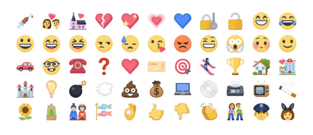 Extended emoji support